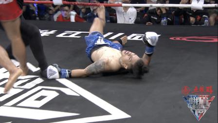 这位泰拳王够狠,一脚定乾坤,新西兰拳王被KO四脚朝天吓到观众!