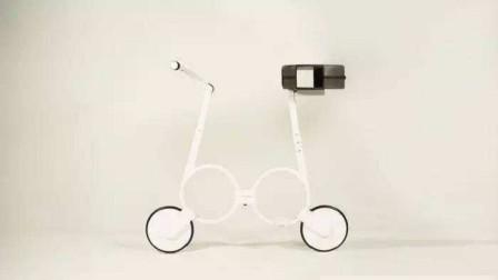 中国研发世上最小电动车,骑完直接塞包里,重量仅有5公斤