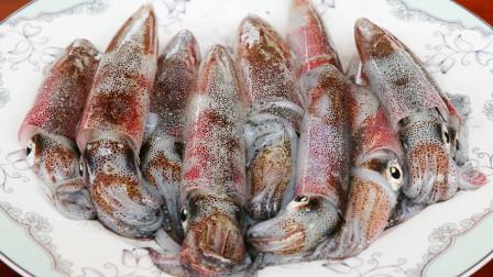 鲜鱿鱼最鲜嫩的做法,盐水生滚鲜鱿鱼,鲜香脆爽,太好吃了