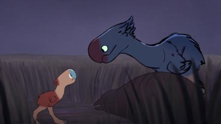 小鸟误以为翼龙是妈妈,一路追随险些丢掉性命,翼龙都被感动了