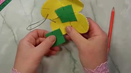 「创意手工DIY」漂亮的方形香包挂件,制作方法很简单!