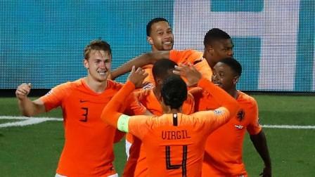 欧国联-斯通斯加时致命失误德佩造3球,荷兰3-1英格兰进决赛
