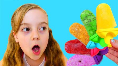 超好玩!太热了萌宝小萝莉想吃冰淇淋!为何却一口气吃了5个?