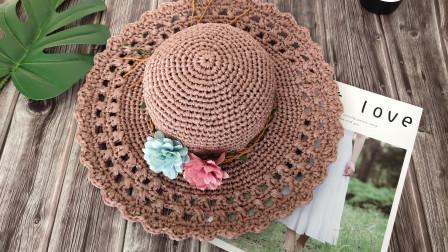 瑶妈编织第32集镂空夏凉帽织法和图解