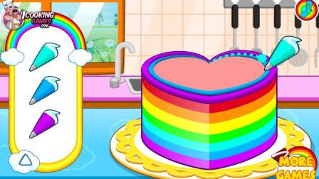 五颜六色的蛋糕制作小游戏试玩 江哥哥解说