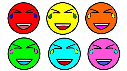 如何简画笑哭表情包 然后涂上彩色