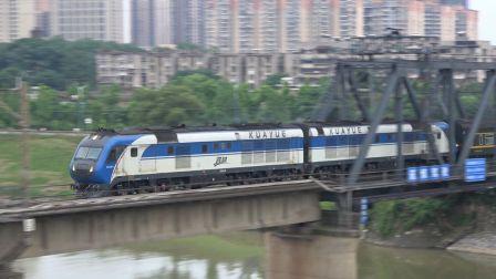 【2019.05.31】[南京广线][芙蓉北路浏阳河大桥] Z208次 DF11G0013-0014