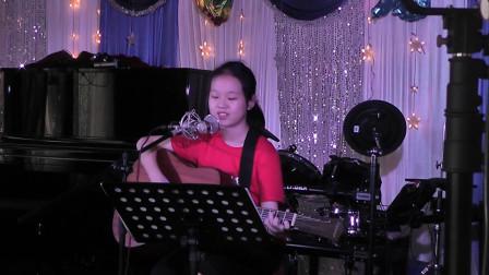 乔淇学习吉他弹唱表演《嘀嗒》
