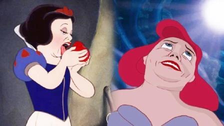 真实的迪士尼公主原来是这样的,原来公主们也有狼狈的时刻!