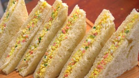 别为孩子早餐发愁,试试快手三明治,不爱吃饭的儿子,边吃边夸好