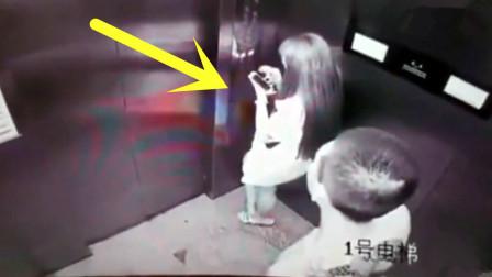 短裙女子乘坐电梯,纹身男子尾随欲行不轨,监控拍下犯罪全过程!