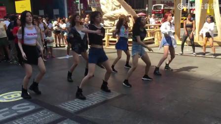 (G)I-DLE 在时代广场,纽约快闪哦