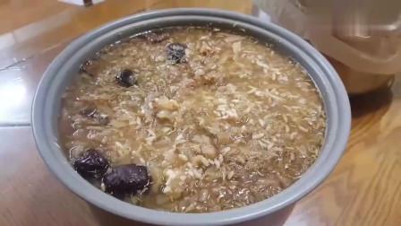 《韩国农村美食》妈妈煮一大锅,红枣,苹果,大米,你能吃几碗