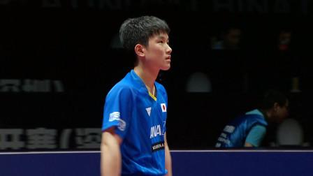张本智和并非每次赢球都大喊大叫,他也有自己的修养与素养底线!