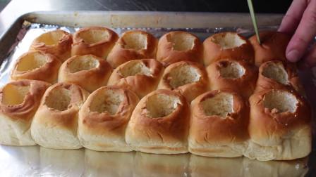 肉丸馅蒜蓉面包,真的好吃