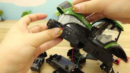 小马识交通工具 拆装绿色农用车,工程车玩具小汽车