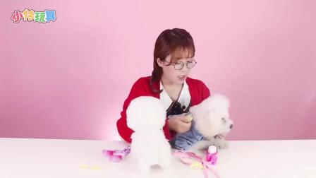 小伶玩具:狗狗眼睛周围的毛毛很容易耷拉下来把他的眼睛遮住