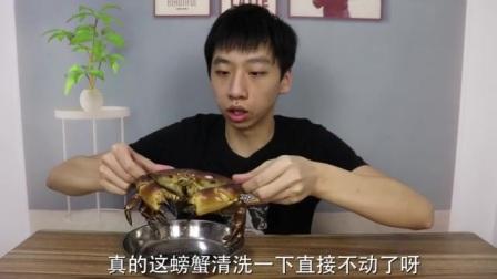 吃螃蟹教学,看着都好吃,快来试试