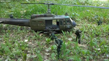 玩具士兵休伊直升机动作人物儿童玩具