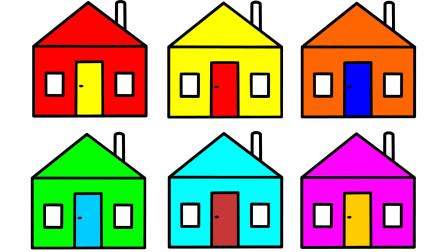 如何简画房子 然后涂上彩色