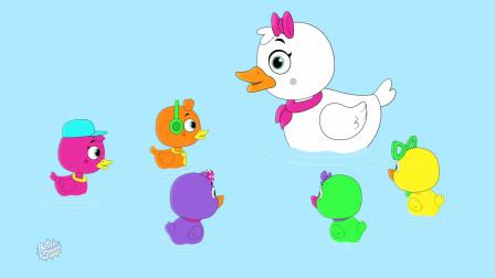 五只小鸭子童谣童谣奶瓶班婴儿超级英雄童谣