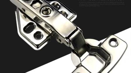 五金工具之铰链,产品铰链和铰链开孔器的介绍以及使用演示,安装门柜、卫浴柜门、双开门以及橱柜门,视频1分钟