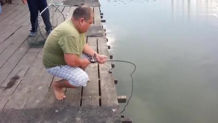 还好胖哥的体力好,不然要钓这鱼难