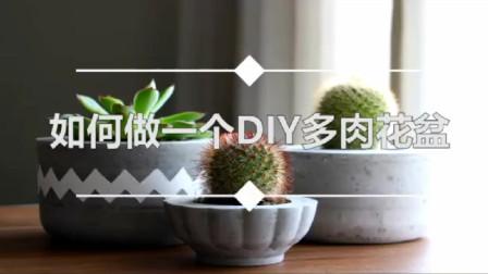 如何做一个DIY多肉植物花盆