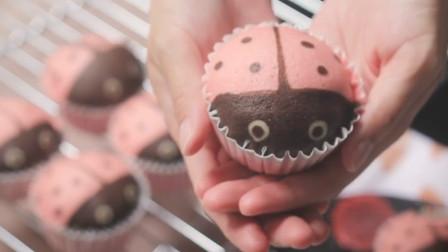 教你在家就能做金龟子纸杯蛋糕,捏着像海绵一样柔软,松软可口的