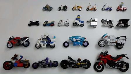 多款摩托车模型玩具展示