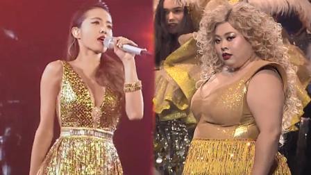 200斤的日本胖女孩超自信,完美模仿蔡依林的《舞娘》,燃爆全场