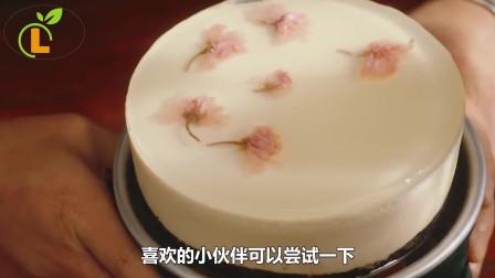 玲玲农家菜:樱花冻芝士蛋糕,赶快学起来吧