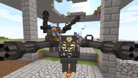大海解说 我的世界建造我的王国ep139 双人战斗机器人保卫村庄