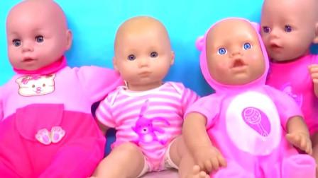 芭比娃娃学习婴儿娃娃玩具的颜色和形状,儿童益智玩具