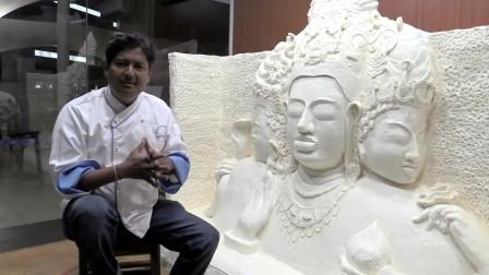 印度厨师准备了4年时间,终于做出世界上最大的黄油雕像!