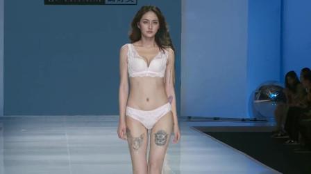 中国内衣秀,美女模特动感走秀,身姿婀娜