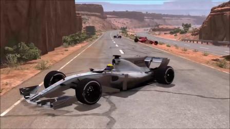 车祸模拟:一级方程式赛车碰撞车祸