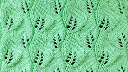 非常典雅的一款棒针花样,织毛衣显气质,双向叶子花教程!(下)