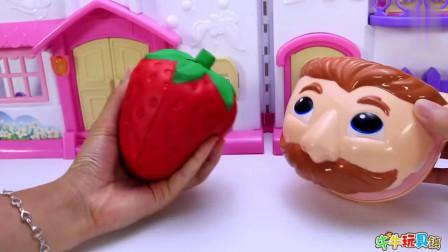 大嘴巴先生吃了太多的草莓和西瓜, 还有糖果, 结果牙齿很疼需要检查