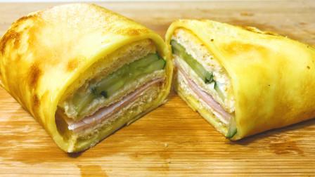 你这样吃过吐司么?全新吃法的蛋皮吐司三明治