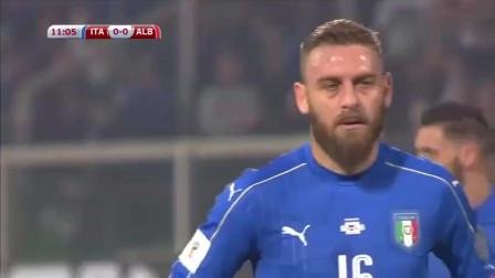 世界杯预选赛,德罗西点射因莫比莱头槌,意大利2-0阿尔巴尼亚