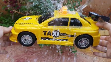 大型玩具车为儿童拆箱水上汽车视频为儿童