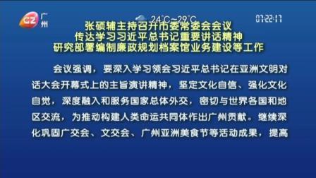 广州早晨 2019 张硕辅主持召开会会议,传达学重要讲话精神