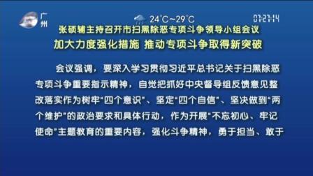 广州早晨 2019 张硕辅主持召开市扫黑除恶专项斗争领导小组会议,加大力度强化措施