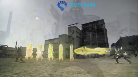 铠甲勇士:帝皇侠  帝皇侠找到方法搞定难缠的毒角魔甲兽,这条龙有点帅