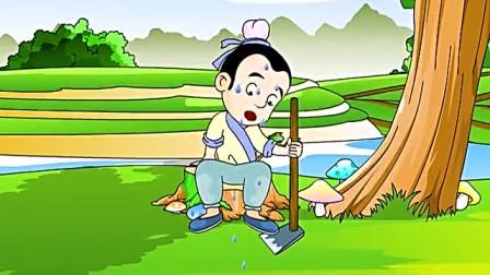 故事大全白雪公主篇 守株待兔:农夫干活的时候,有只兔子撞在树桩上死了!