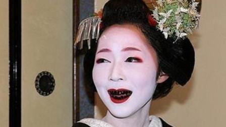 日本艺妓化妆太奇葩,同样是女人,审美的差别太大了!