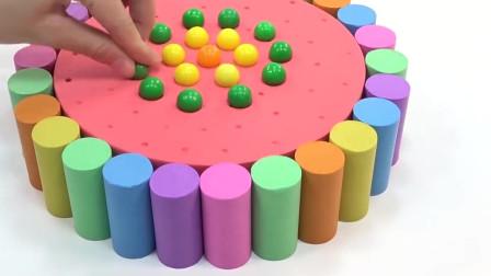 黏土的创意DIY,这样做彩色蛋糕,简单又好看!