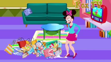 米老鼠卡通:米奇妈妈乱买东西,家里都放不了