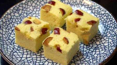 最近一款懒人早餐蛋糕超火,不发酵不用面,简单营养比发糕更好吃
